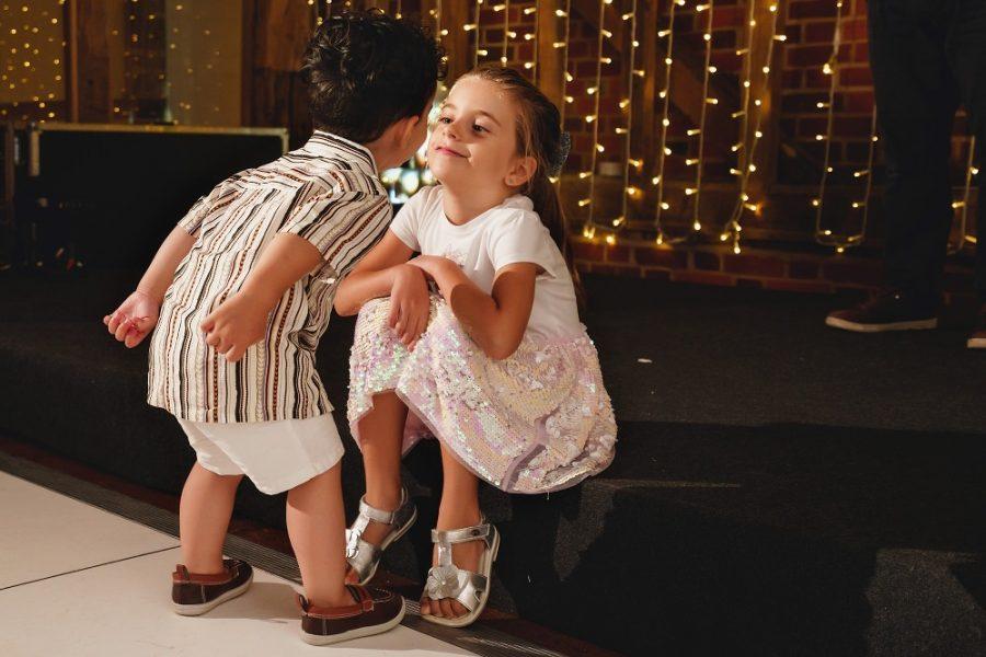 kids playing on dance floor