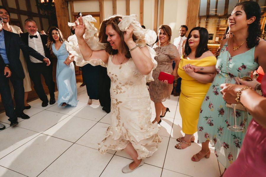 auntie dancing at persian wedding