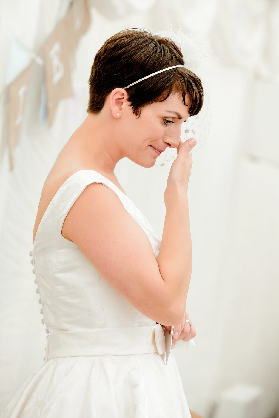 bride getting emotional during speech
