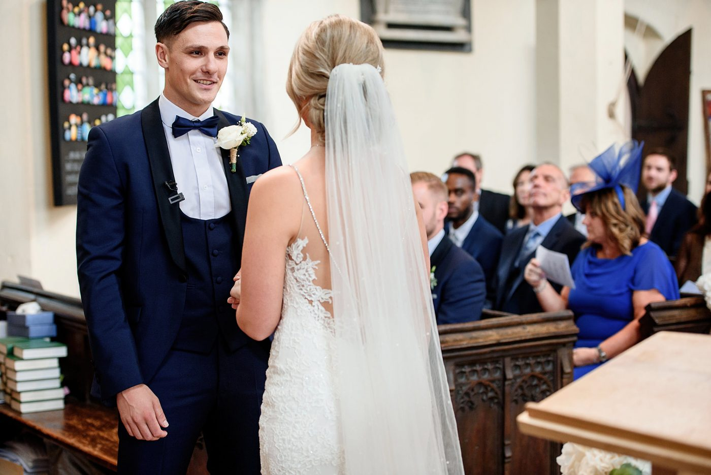 wedding ceremony at st marys church