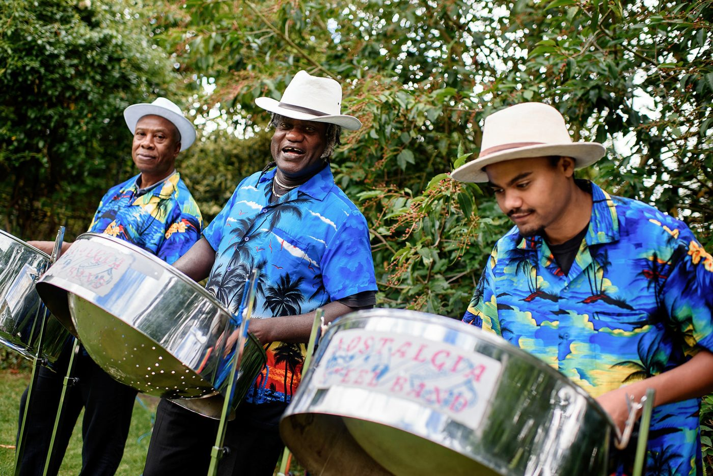 steel drum band at wedding
