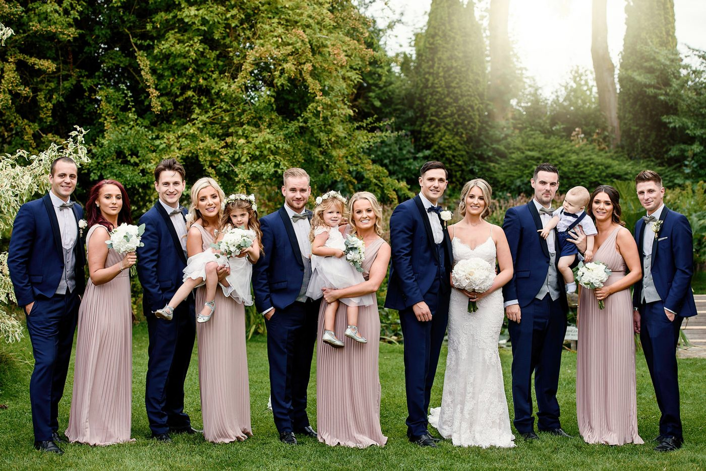 formal portrait of wedding party