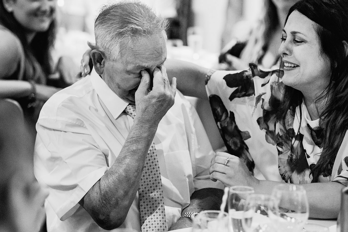 groom's grandad shedding a tear